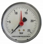 Preview: Manometer - Kesselmanometer für Kompressor  63 mm Durchm - 1/4""