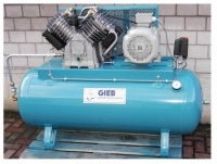 Gieb Industriekompressor 1100 / 250 - 15 - liegend 15bar 7,5KW - 400 V
